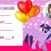 Invitaciones de Cumpleanos de My Little Pony con Foto