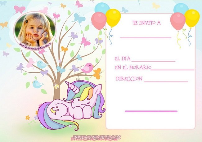 tarjetas de cumpleanos de unicornios - tarjetas con foto unicornios