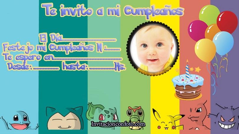 Editar Invitaciones De Cumpleaños Pokemon Invitaciones De