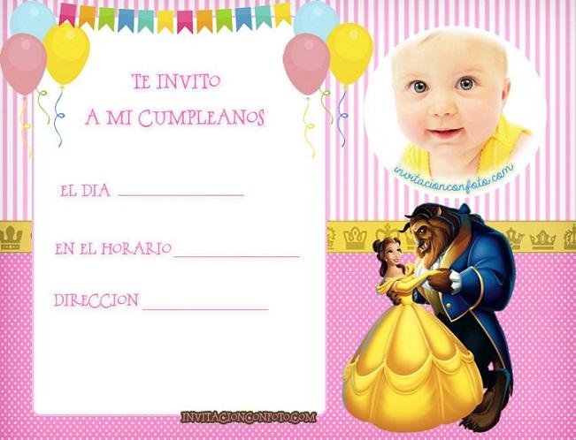 Invitaciones-de-cumpleanos-de-Bella-y-bestia-Con-foto-tarjetas-de-bella-y-bestia-cumpleanos-princesa-bella-tarjetas