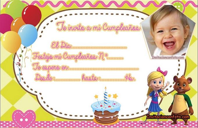 Tarjetas de Cumpleaños de Goldie y Osito