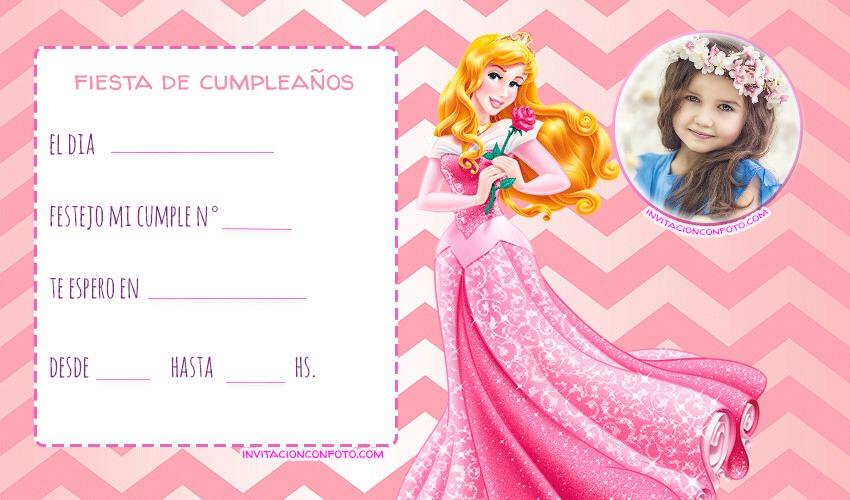 Invitaciones De Cumpleanos Bella Durmiente Con Foto