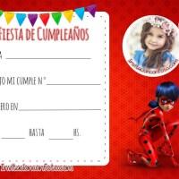 Invitaciones de Cumpleaños Ladybug con Foto