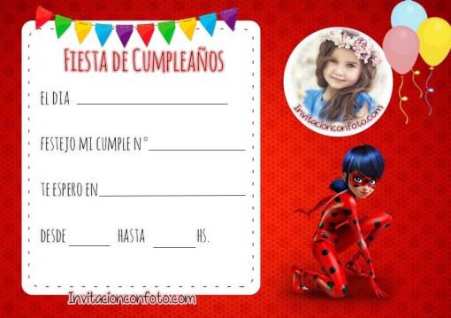 fiesta ladybug tarjetas digitales