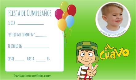 Invitaciones de Cumpleaños del Chavo del 8 Animado