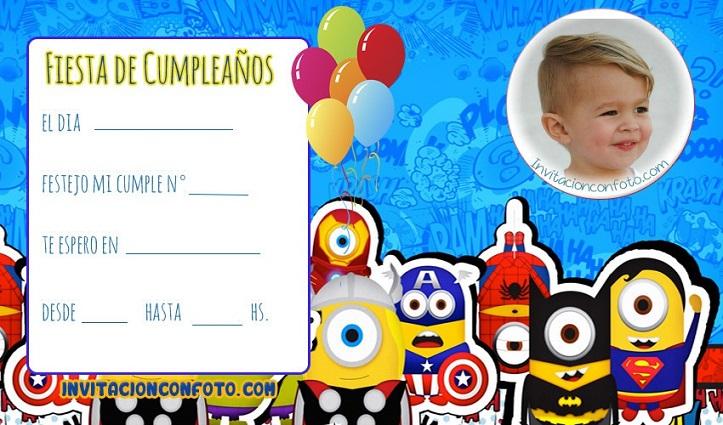 Invitaciones Cumpleaños Infantiles Con Foto Invitaciones