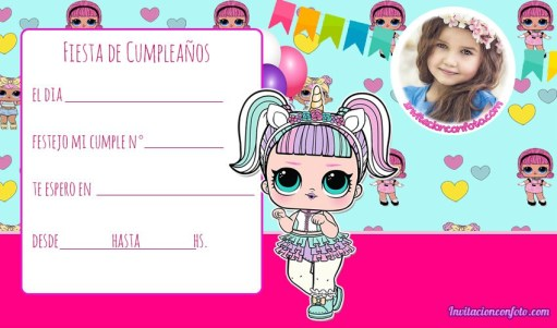 Invitaciones-de-Cumpleanos-LOl-Surprise-unicornios