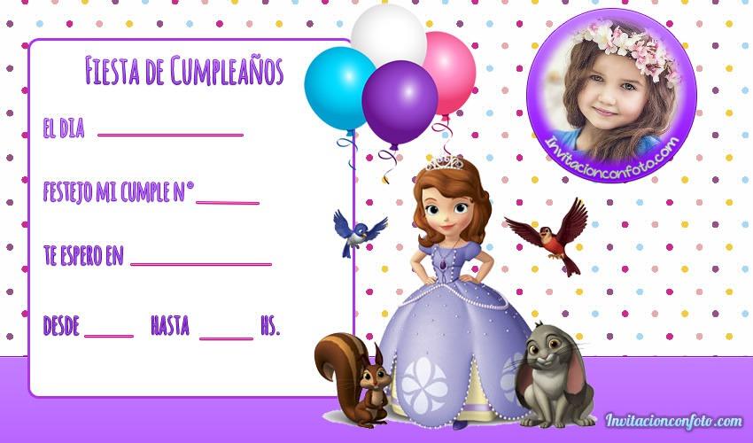 Invitaciones cumpleanos princesas disney