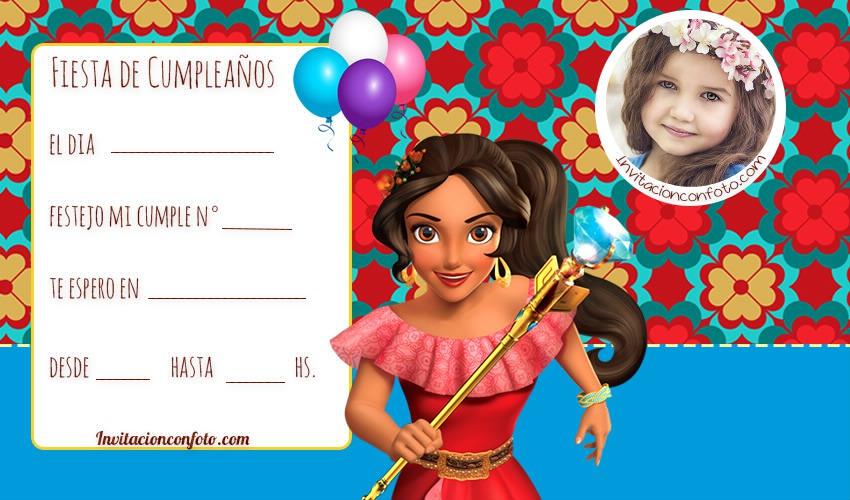 Invitaciones De Cumpleanos De Elena De Avalor Con Foto