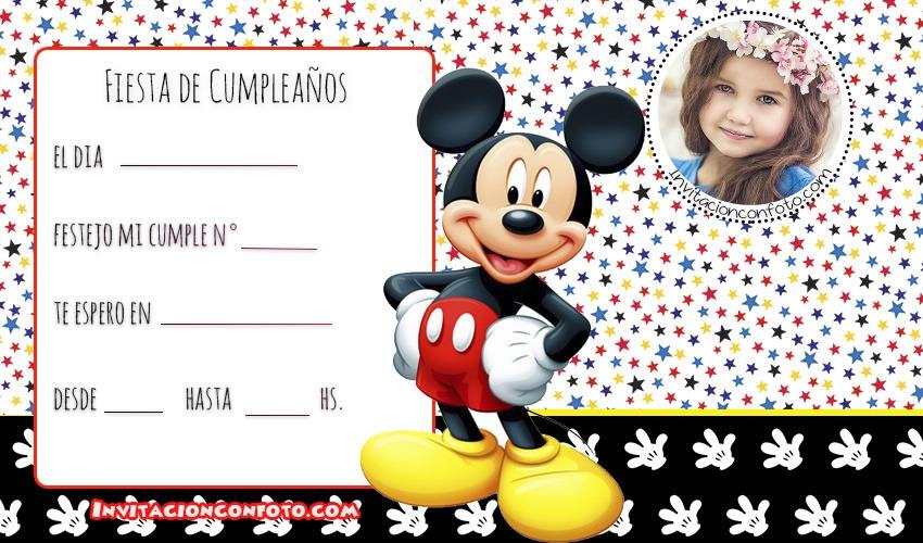 Mickey invitaciones de cumpleanos - mickey tarjetas de cumpleanos