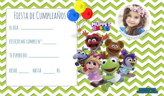 Muppets Babies tarjetas de cumpleanos