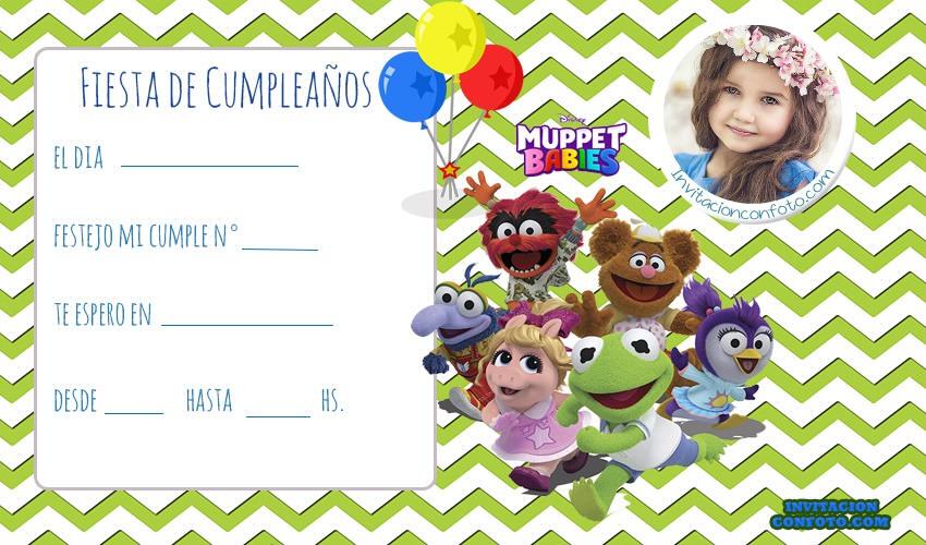 Invitaciones De Cumpleanos De Muppets Babies Para Editar Con