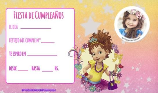 tarjetas cumpleanos fancy nancy con foto