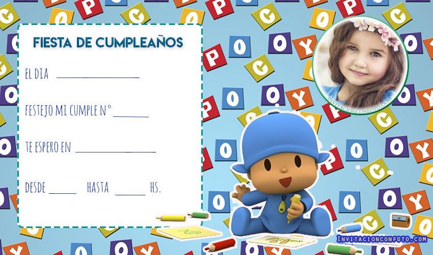 Editar Invitaciones Infantiles Con Foto Invitaciones De