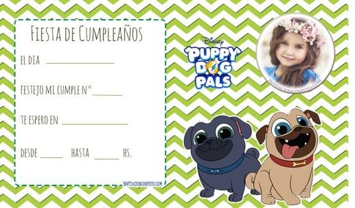 Tarjetas de Puppy Dog Pals cumpleanos - Invitaciones cumpleanos Puppy dog pals -
