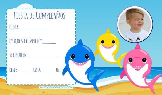 tarjetas de cumpleanos baby shark editar con foto