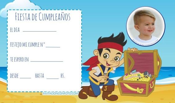 ake y Los Piratas Tarjetas de Cumpleanos - Jake Piratas invitaciones convites.