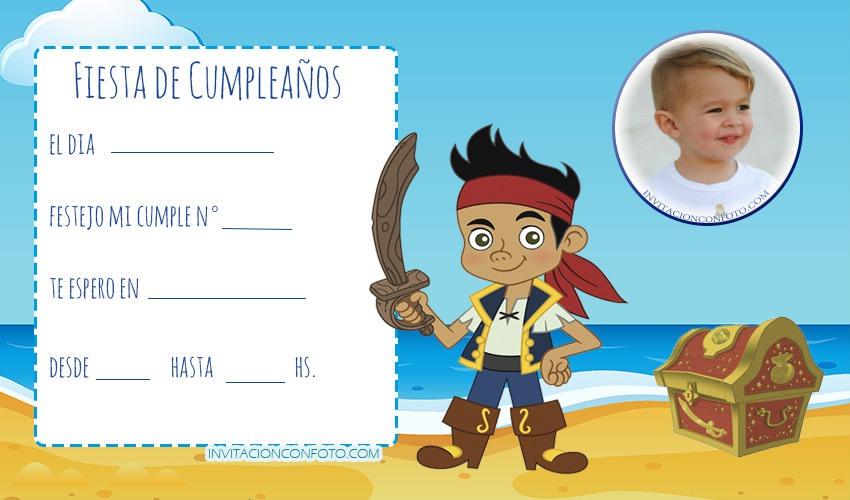 Tarjetas de Jake y Los Piratas cumpleanos - invitaciones jake el pirata cumpleanos - convite