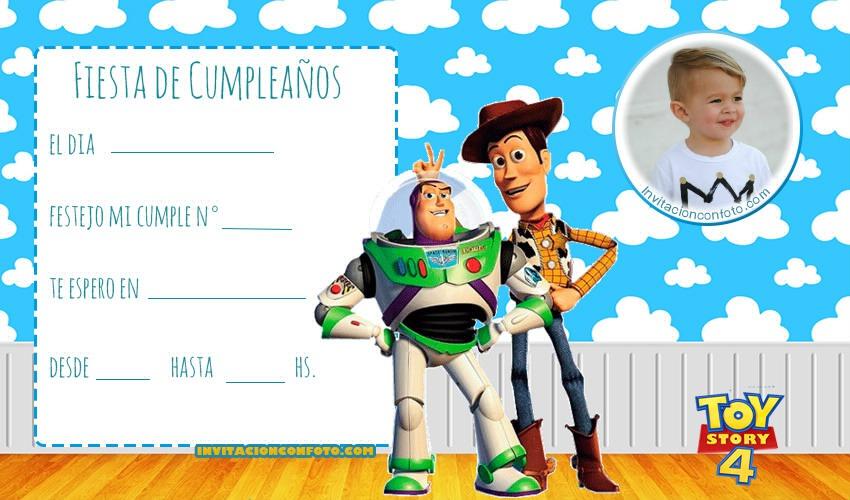 Invitaciones De Cumpleanos Toy Story Con Foto Invitaciones