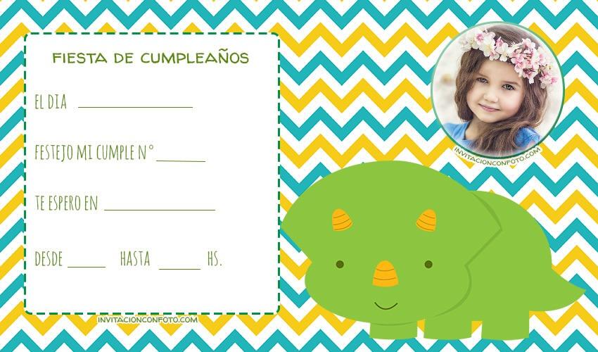 Invitaciones De Cumpleanos De Dinosaurios Con Foto Invitaciones De Cumpleaños Infantiles Con Foto