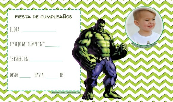 Hulk Tarjetas de cumpleanos
