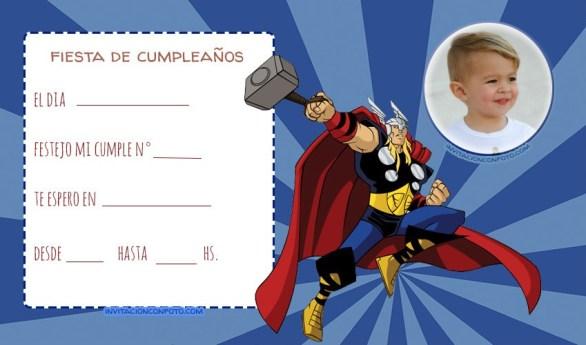 Convite Thor Avengers