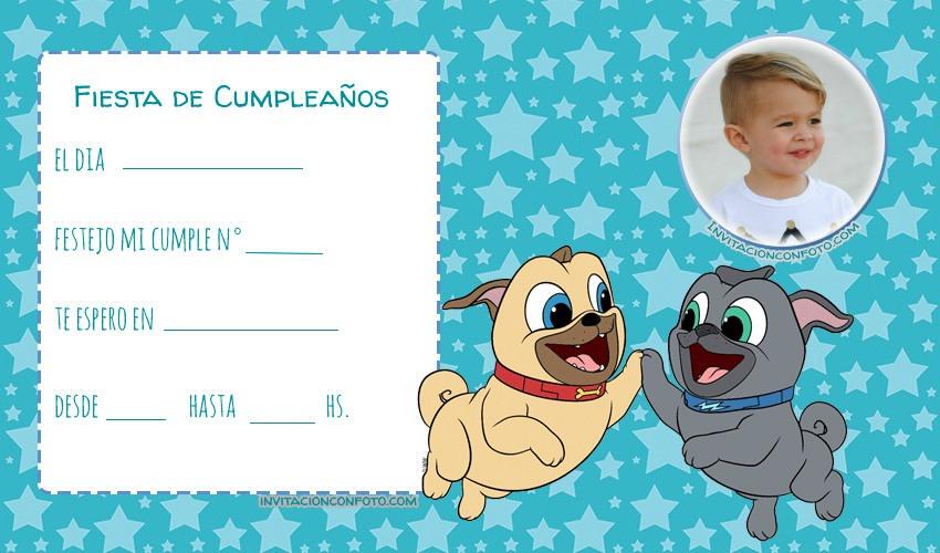 Puppy Dog Pals Invitaciones para nenas