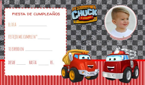 Invitaciones de Cumpleanos Chuck & Friends