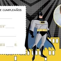 Invitaciones de Cumpleanos de Batman con Foto