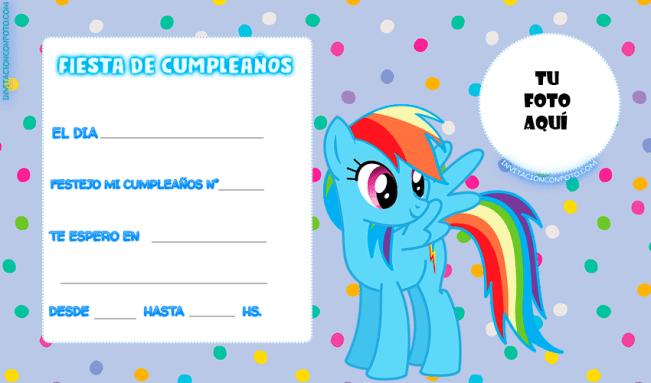 Pony Tarjetas invitaciones fiesta