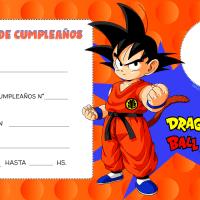 Invitaciones Dragon Ball Z para editar con Foto
