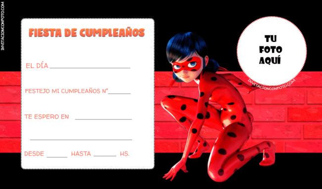 Ladybug Invitaciones con Foto