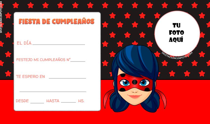 Ladybug tarjetas cumpleanos