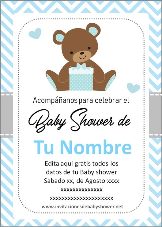 Invitaciones Para Baby Shower Gratis Para Descargar : invitaciones, shower, gratis, descargar, Mejores, Invitaciones, Shower, Niño, Editar【2020】