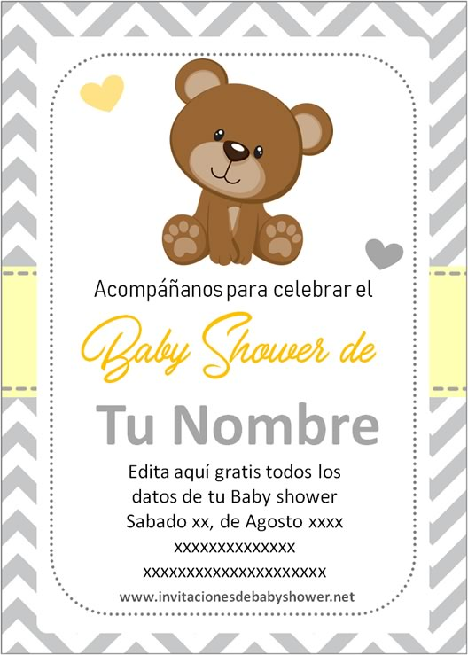 Invitaciones Para Baby Shower Gratis Para Descargar : invitaciones, shower, gratis, descargar, Mejores, Invitaciones, Shower, Niña, Unisex