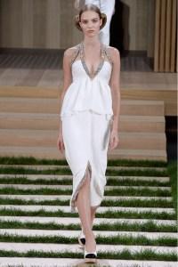 Chanel vestido blanco escote ss16 París