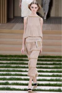 Chanel vestido nude ss16 París
