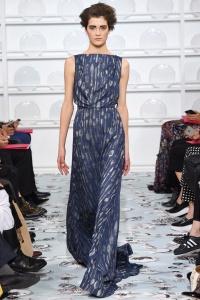 Schiaparelli vestido estampado azul ss16 París