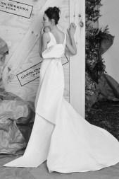 Carolina Herrera Novias Primavera 2017 modelo Audrey B&N