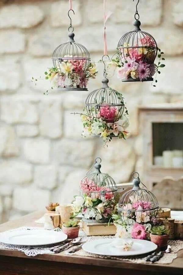 decoración boda con jaulas – invitada perfectasandra