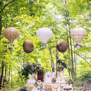 Decoración boda con globos de papel