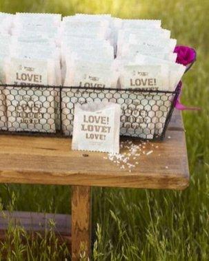 Sobres de arroz para boda