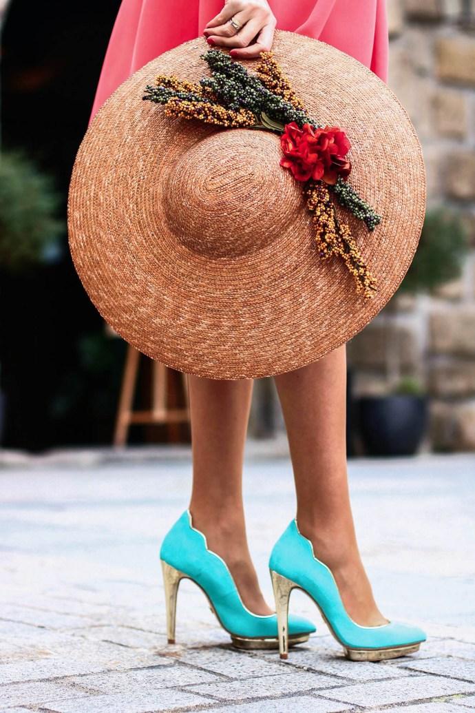 zapato turquesa invitada boda