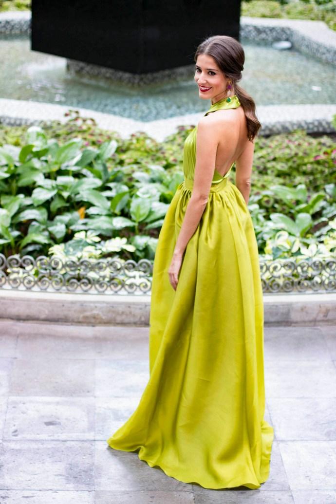 Invitada boda Fernando Claro Costura Verde 9