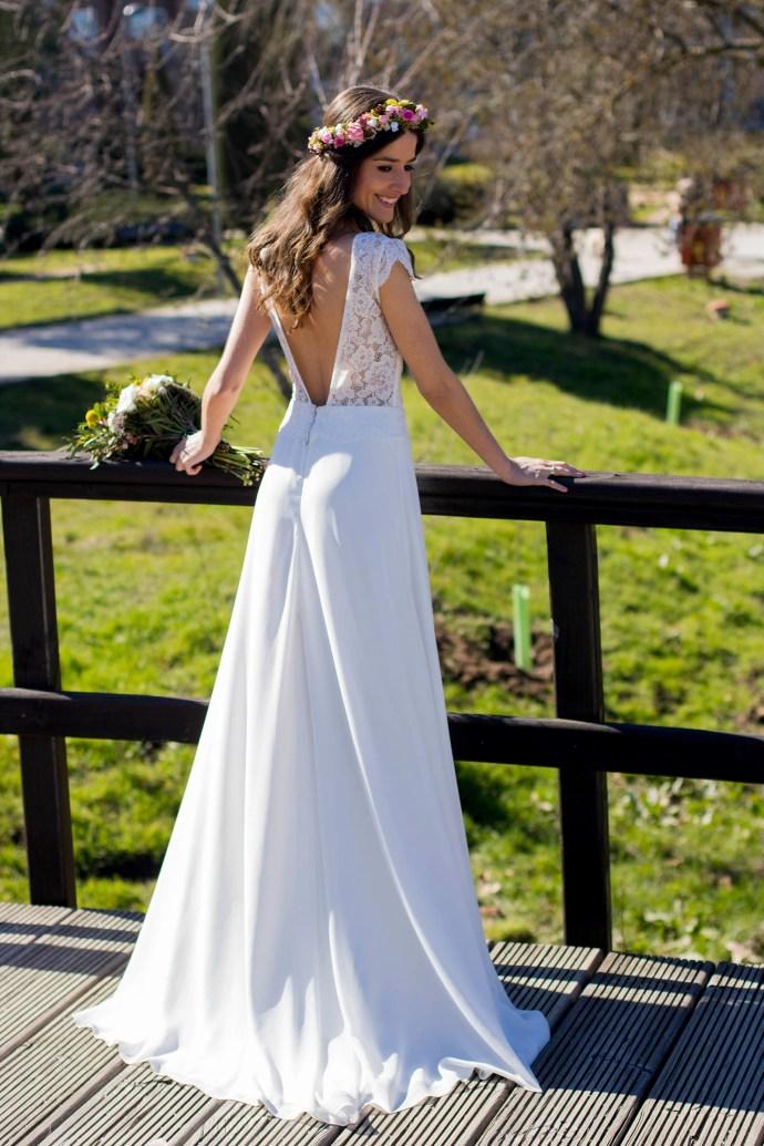 vestido novia encaje l'avetis barcelona
