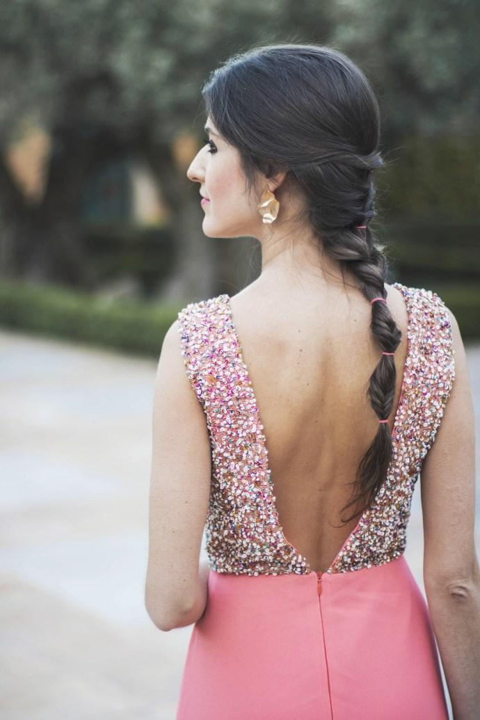 Peinado trenza espiga burbujas invitada boda