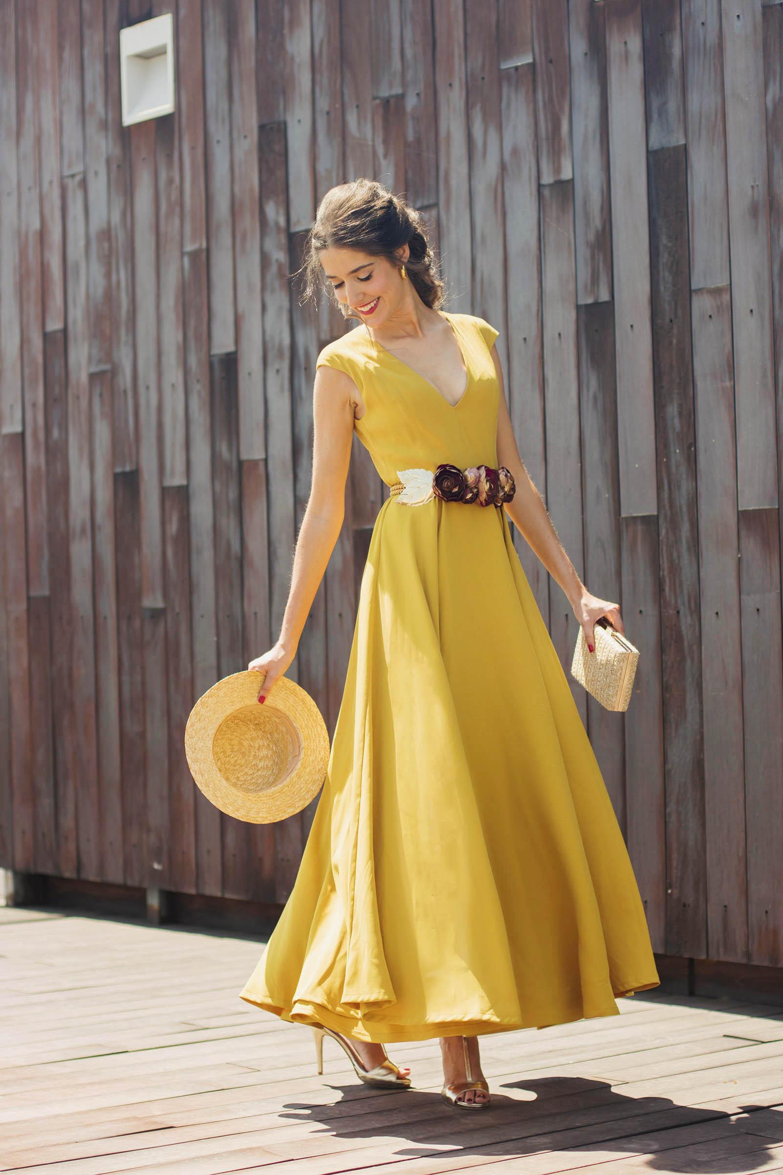 Vestido de novia largo midi