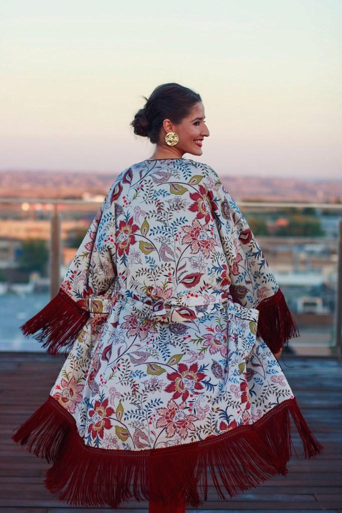 8e7e328a7 Invitada perfecta boda lowcost Zara otoño kimono mono jumpsuit