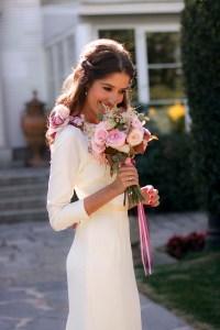Ramo de novia rosas Naranjas de la china