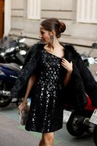 vestido lentejuelas negro look nochevieja navidad wild pony invitada perfecta